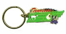 """36 Units of Heavy brass keychain, TENNESSEE, state is approx. 1.75"""" in size - Key Chains"""