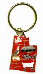 """36 Units of Heavy brass keychain, Utah, state is approx. 1.75"""" in size - Key Chains"""