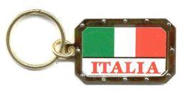 48 Units of Heavy gold metal keychain, Italia - Key Chains