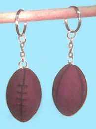 """144 Units of 1.5"""" Rubber football keychain - Key Chains"""