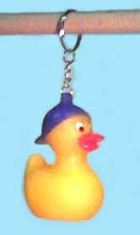 """288 Units of 2"""" Duck with baseball cap keychain - Key Chains"""