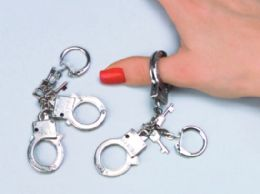 "288 Units of 3.5"" Thumbcuffs keychain - Key Chains"