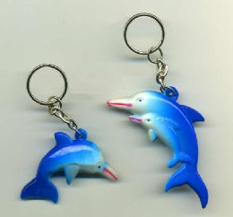 """288 Units of 2"""" Blue Dolphin Keychain - Key Chains"""