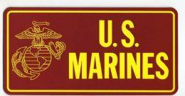 "96 Units of 2.75"" x 5.5"" magnet, U.S. Marines - Refrigerator Magnets"
