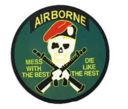 """96 Units of 5"""" diameter magnet, Airborne - Mess With The Best, Die Like The Rest - Refrigerator Magnets"""