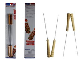 72 Units of 4PC BBQ Skewers, with wooden handles - BBQ supplies