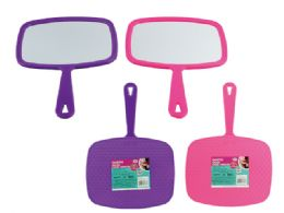 72 Units of Hand Mirror With Handle - Cosmetic Cases