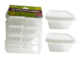 48 Units of Craft Square Container 8 Pack - Craft Container and Storage