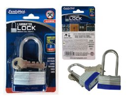 96 Units of Laminated Lock, Long Shackle - Padlocks and Combination Locks