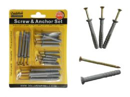 96 Units of 18pc Screws & Anchors Set - Drills and Bits