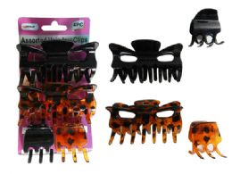 96 Units of 4pc Hair Jaw Clips - Hair Accessories