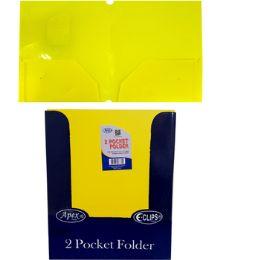 48 Units of 2 Pocket Poly Folder No Holes Matt/Shinny - Folders and Report Covers