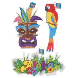 36 Units of Luau Paper Hanging Decorations - Hanging Decorations & Cut Out