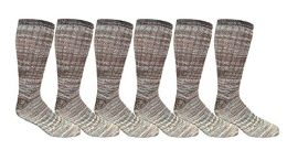 6 Pairs of excell Men's King Size Merino Wool Camouflage Thermal Sock,Size 13-16 - Mens Thermal Sock