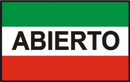 "12 Units of 3' x 5' polyester flag, ""Abierto"" (open), with grommets - Signs & Flags"