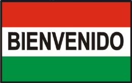 "12 Units of 3' x 5' polyester flag, ""Bienvenido"" (welcome) with grommets - Signs & Flags"