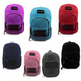 """24 Units of 19"""" Backpacks with Pocket Organizer in 7 Assorted Colors - Backpacks 18"""" or Larger"""