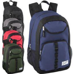 """24 Units of Urban Sport 18 Inch U Pocket Backpack - Boy Colors - Backpacks 18"""" or Larger"""
