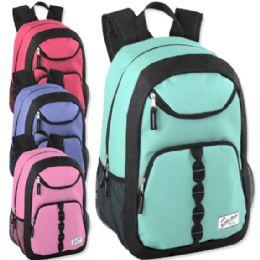 """24 Units of Urban Sport 18 Inch U Pocket Backpack - Girl Colors - Backpacks 18"""" or Larger"""