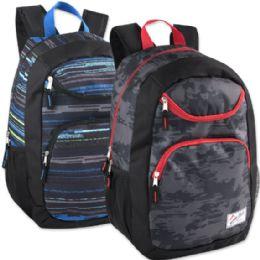 """24 Units of Urban Sport 18 Inch U Pocket Backpack - Printed - Backpacks 18"""" or Larger"""