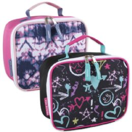 24 Units of Fridge Pak Printed Lunch Bag - Girls - Lunch Bags & Accessories