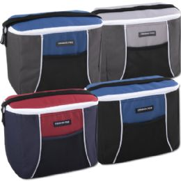 24 Units of Fridge Pak 12 Can Cooler Bag - 4 Colors - Cooler & Lunch Bags