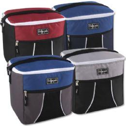 24 Units of Fridge Pak 24 Can Cooler Bag - 4 Colors - Cooler & Lunch Bags