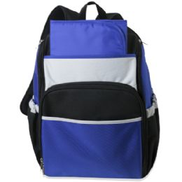 24 Units of Blue Color Block Diaper BackpacK- 17 Inch - Baby Diaper Bag