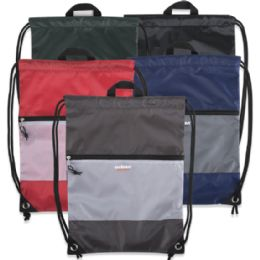 48 Units of Urban Sport 18 Inch Drawstring Bag - 5 Colors - Draw String & Sling Packs