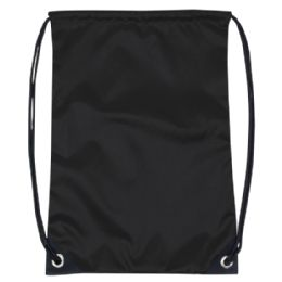 48 Units of Kids 15 Inch Promo Drawstring Bag - Black Only - Draw String & Sling Packs