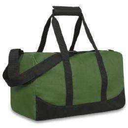 24 Units of 17 Inch Duffel Bag Khaki Green Color Only - Duffel Bags