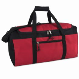 24 Units of 22 Inch Duffel Bag Red Color Only - Duffel Bags