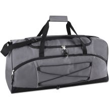 24 Units of Trailmaker 26 Inch Bungee Duffel Bag Grey Color Only - Duffel Bags