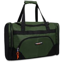 24 Units of Trailmaker Deluxe 20 Inch Duffel Bag With Large Side PocketS- Green Color Only - Duffel Bags