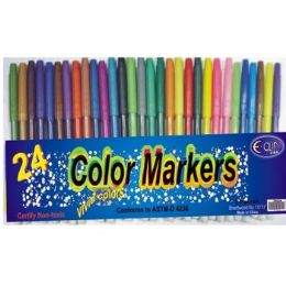 48 Units of Watercolor Markers - 24 Pack - Assorted Colors. - Markers