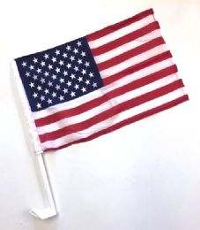 24 Units of SinglE-Sided Usa Car Flag - Auto Accessories