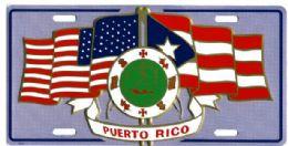 24 Units of Puerto Rico/u.s. Flag Metal License Plate - Auto Accessories