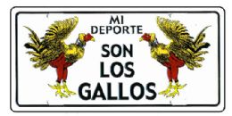 "24 Units of ""mi Deporte Son Los Gallos"" Metal License Plate - Auto Accessories"