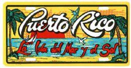 """24 Units of """"puerto Rico - La Isla Del Mar Y Del Sol"""" Metal License Plate - Auto Accessories"""
