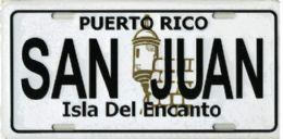 """24 Units of """"puerto Rico - San Juan - Isla Del Encanto"""" Metal License Plate - Auto Accessories"""