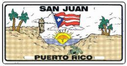 "24 Units of ""san Juan Puerto Rico"" Metal License Plate - Auto Accessories"