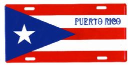 """24 Units of """"puerto Rico"""" Metal License Plate - Auto Accessories"""