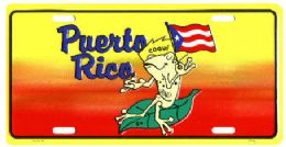"24 Units of ""puerto Rico - Coqui"" Metal License Plate - Auto Accessories"
