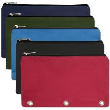 96 Units of 3 Ring Binder Pencil Case 5 Color Assortment - Pencil Boxes & Pouches