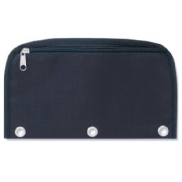96 Units of 3 Ring Binder Dome Pencil Case - Black Only - Pencil Boxes & Pouches