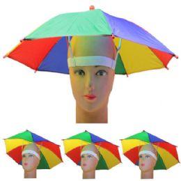 36 Units of Rainbow Umbrella Cap - Umbrellas & Rain Gear