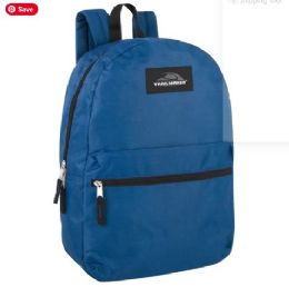 24 Units of Trailmaker 17 Inch Backpack - Navy Blue - Backpacks 17""