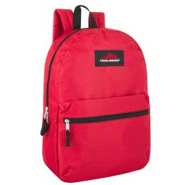 24 Units of Trailmaker Classic 17 Inch Backpack In Red Only - Backpacks 17""