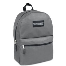 24 Units of Trailmaker Classic 17 Inch Backpack In Grey Only - Backpacks 17""