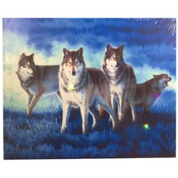 12 Units of Blue Dreamed Wolf Canvas Picture - Wall Decor